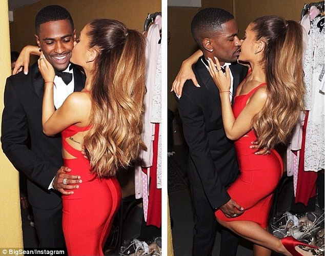 Ariana Grande and Big Sean kiss