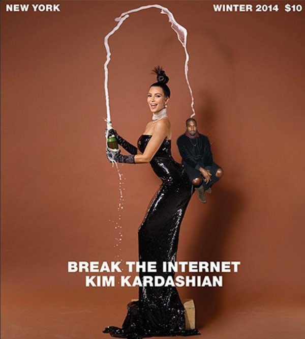 Kim Kardashian balance kayne west on ass meme