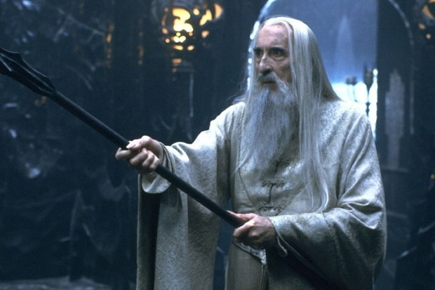 Sir Christopher Lee as saruman he died at age 93