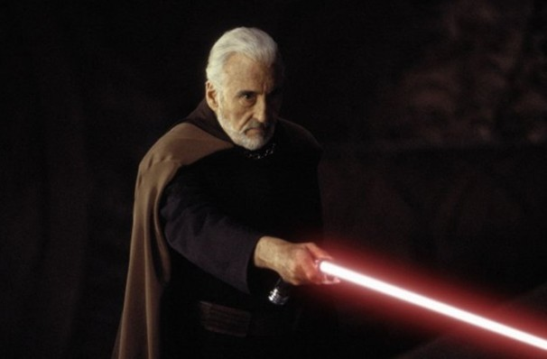Sir Christopher Lee also played a role in star wars