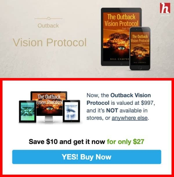 where to buy outback vision protocol