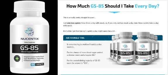 nucentix gs85 blood sugar control