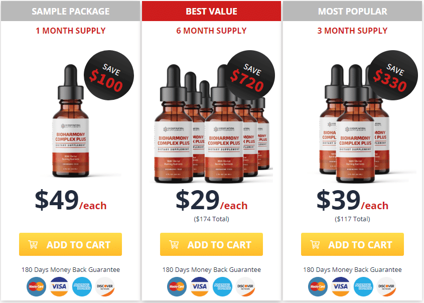 Buy bioharmony complex plus for discounted price now