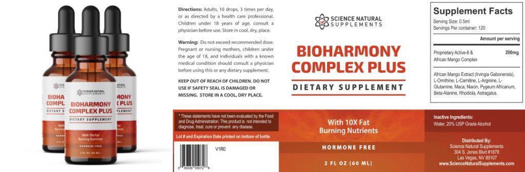 bioharmony advanced complex plus is a fat burning supplement with natural ingredients.