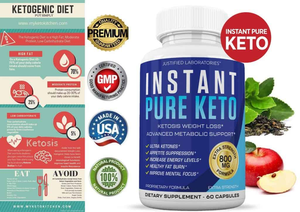 instant keto burn fat with ketosis dietary pill