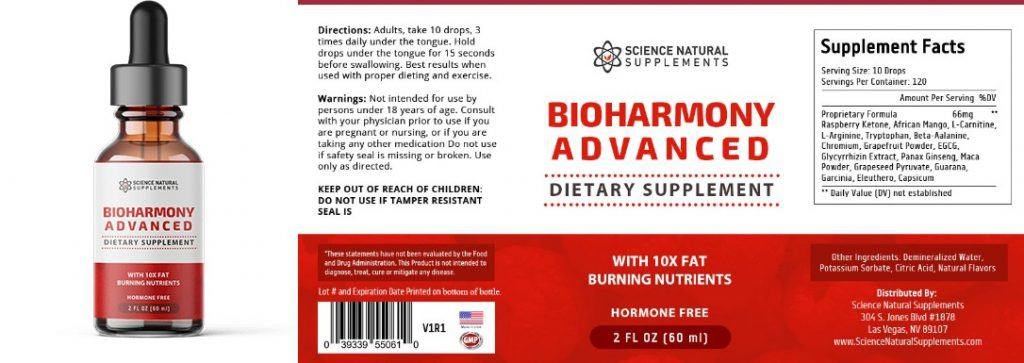 100 amazing ingredients inside bioharmony advanced that helps with quick weight loss, all are test and scientifically proven for the best results.