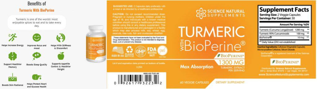 turmeric curcumin with bioperin ingredients is all natural and organic. 100% safe without any side effects.