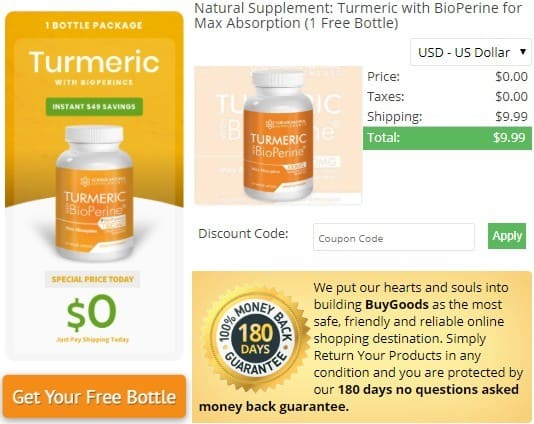 get free bottle from turmeric curcumin with bioperine by science natural supplement